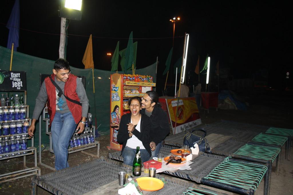 Fun on the roadside dhaba