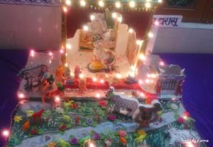 Jhanki depicting Shri Krishna's birth