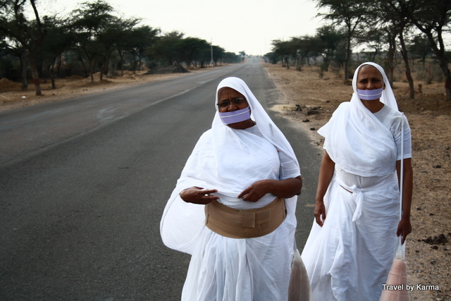 Lady Sadhus from Jain sect