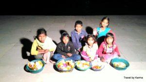 Kids selling flowers on Ganga Ghat, Rishikesh