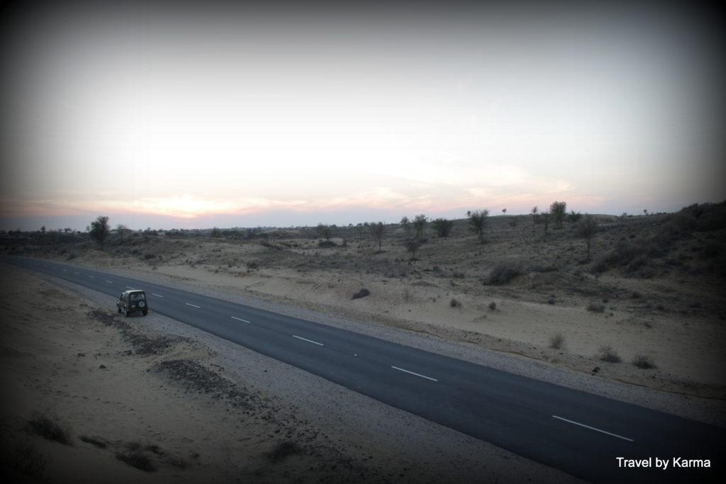 The desert roads