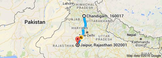 Chandigarh to Jaipur
