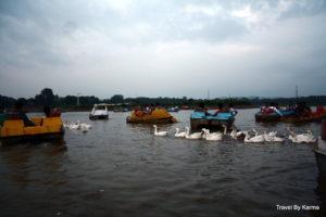 Boating in Sukhna Lake, Chandigarh