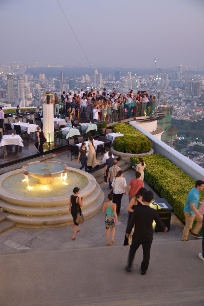 A rooftop restaurant in bangkok