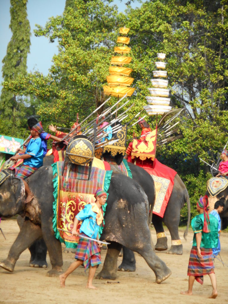 An elephant show in Bangkok