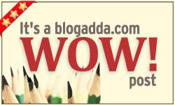 Awarded WOW badge by Blogadda